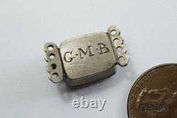 ANTIQUE ENGLISH SILVER STUART CRYSTAL MOURNING CLASP c1700