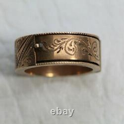 Antique 14k Gold Mourning Ring Hinged Hidden Braided Hair Victorian JL309