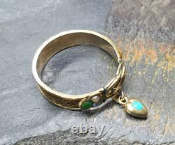 Antique 18ct Gold Mourning Ring Memento Mori with Real Hair Victorian