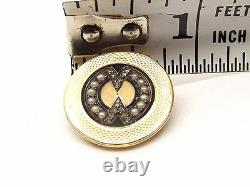 Antique 18k Gold Victorian Mourning Brooch Onyx Seed Pearl Rose Cut Diamond Pin