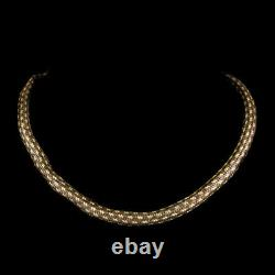 Antique Georgian Mourning Snake Necklace Rock Crystal 18ct Gold Circa 1800