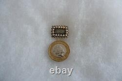 Antique Georgian Period 14ct Gold Split Pearl & Hair Mourning Brooch C1840's