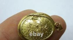 Antique Victorian Seed Pearl 14K Gold Mourning Locket Pendant