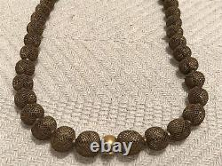 VICTORIAN HAIR MOURNING JEWELRY BRACELET & NECKLACE Human Hair & Solid 14k Gold