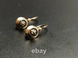 VICTORIAN MOURNING EARRINGS. 14K YELLOW GOLD AND ONYX. SPAIN, 19th CENTURY