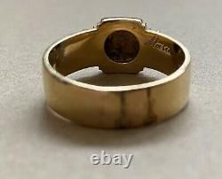 Victorian 18ct Pearl Mourning Ring With Inscription 1876 7g