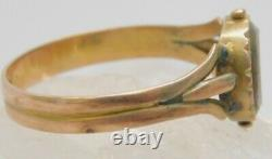Victorian Mourning Hair 9K Gold Ring