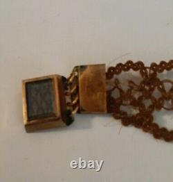 Victorian Mourning Hair Jewelry BRACELET hand crafted art antique