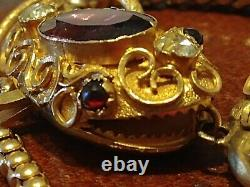 1800s Antique 14k Yellow Gold Victorian Snake Mourning Heart Necklace Locket