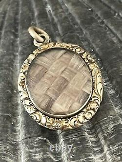 Antique Georgian 15 Ct Gold Cased Mourning Locket / Pendentif Rare Collectionnable 1820