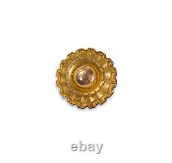 Antique Repousse 10k Rolled Gold Front Lovers Eye Mourning Broche