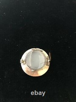 Antique Victorian 14k Or Jaune Mourning Locket Seed Pearl