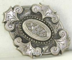 Victorian Antique Sterling Silver Mourning Épingle Cheveux